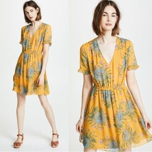 Madewell Sweetgrass Ruffle Sleeve Dress Yellow 10